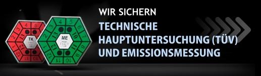 WIR SICHERN TECHNISCHE HAUPTUNTERSUCHUNG (TÜV) UND EMISSIONSMESSUNG