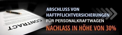 ABSCHLUSS VON HAFTPFLICHTVERSICHERUNGEN FÜR PERSONALKRAFTWAGEN - NACHLASS IN HÖHE VON 30%
