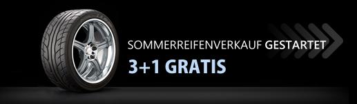 SOMMERREIFENVERKAUF GESTARTET 3+1 GRATIS